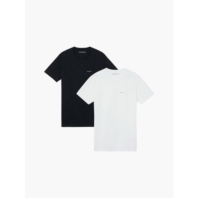 2 Pack Slim Organic Cotton T-shirt Men - White/Black