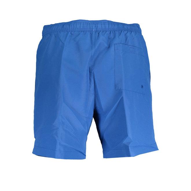 Medium Drawstring Swim Shorts - Core Logo Tape - Royal Blue