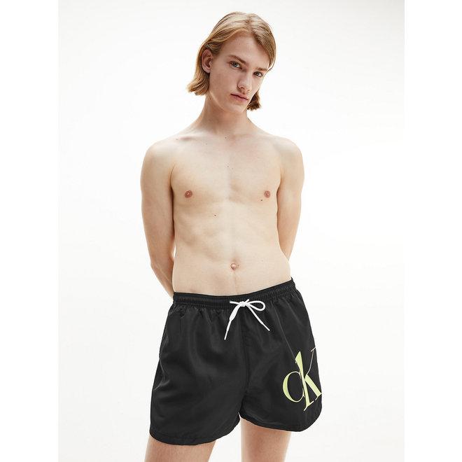 Short Drawstring Swim Shorts Men - Ck One - Black