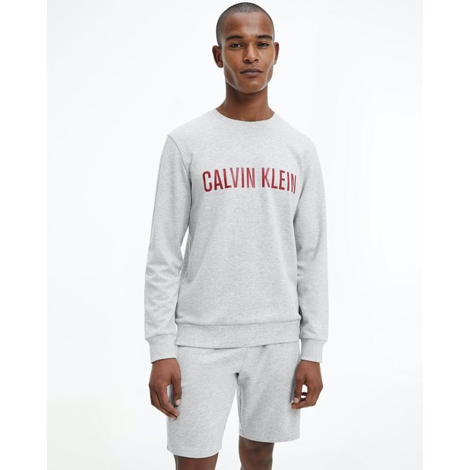 Intense Power Lounge Sweatshirt Men - Light Grey Heather