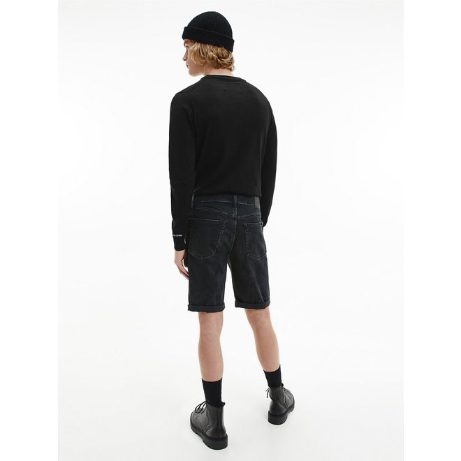 Cotton Stretch Jumper Men - CK Black
