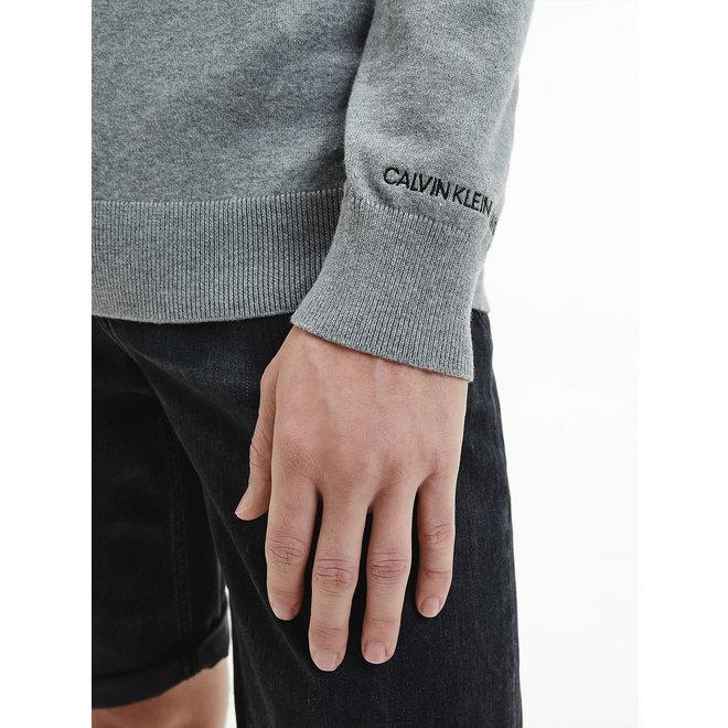 Cotton Stretch CK Jumper Men - Mid Grey Heather