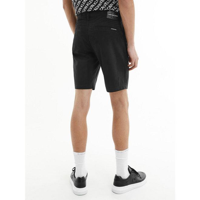 Cotton Twill Chino Shorts Men - Black