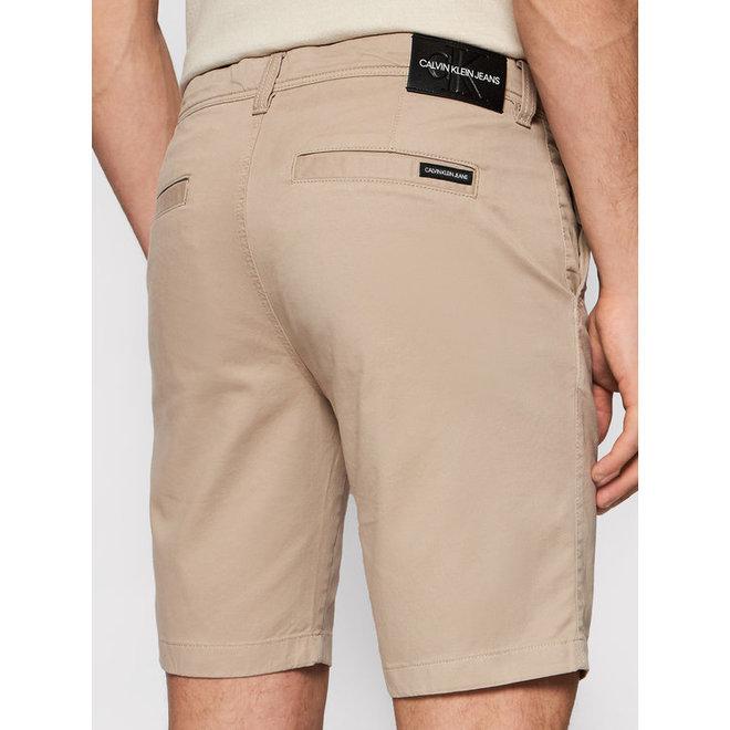 Cotton Twill Chino Shorts Men - Beige