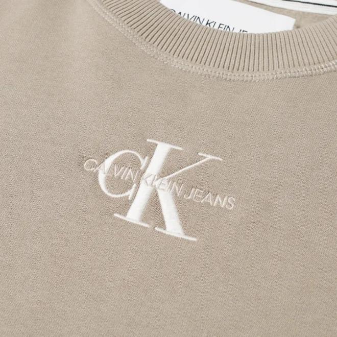 Embroidered Logo Sweatshirt Men - Beige