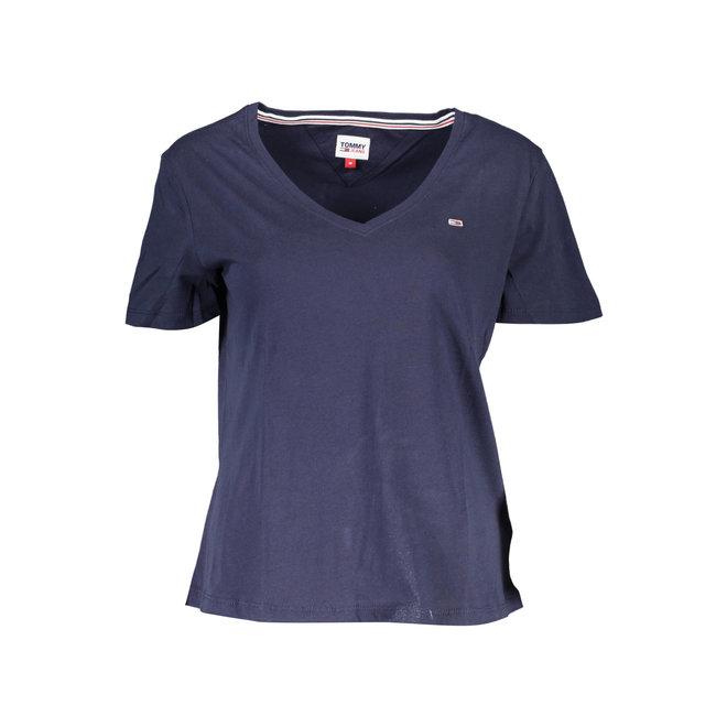 Naisten Lyhythihainen Tommy t-paita - Sininen