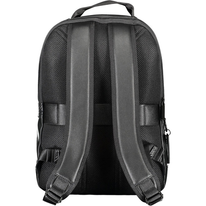 Round Business Travel Backpack Men - Black