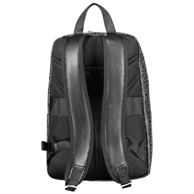 Round logo backpack - Black mono mix
