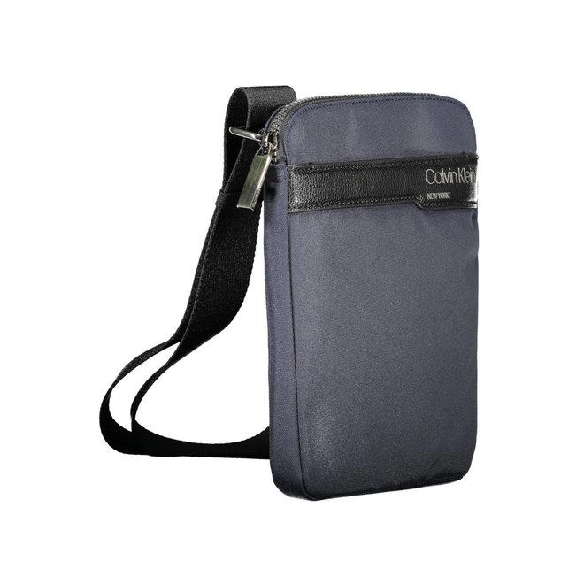 Recycled Polyester Flat Crossbody Bag Men - Blue