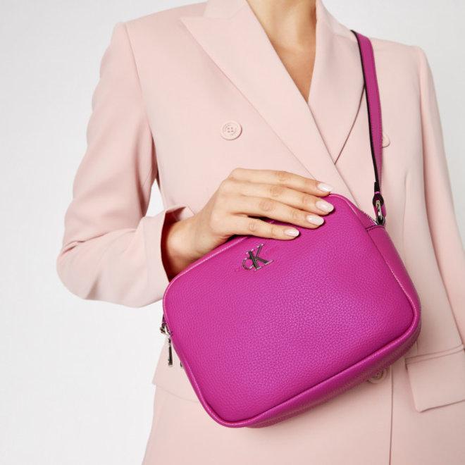 Double Zip Crossbody Bag Black Women - Pink