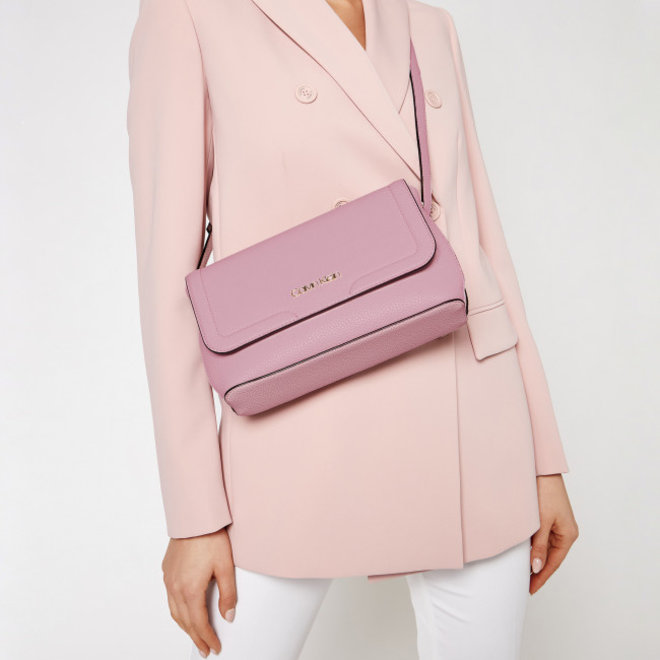 Flap Xbody CK Shoulder Bag Women - Pink