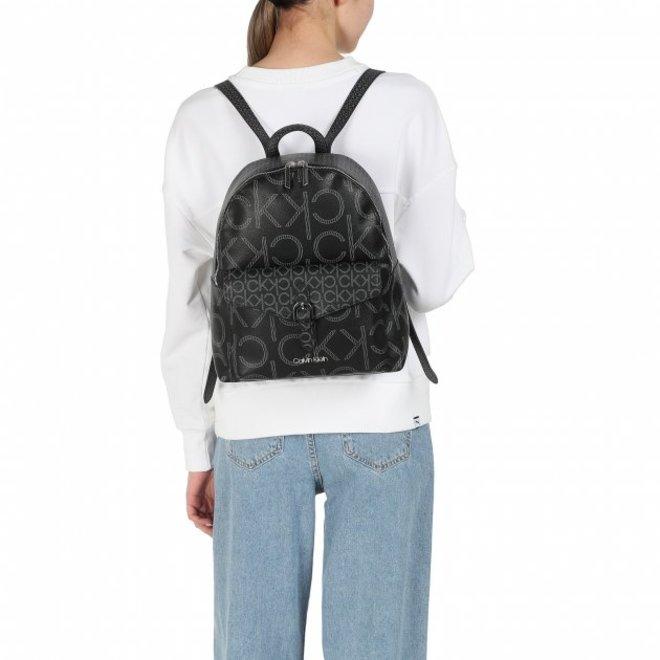 Round logo backpack Women - Black