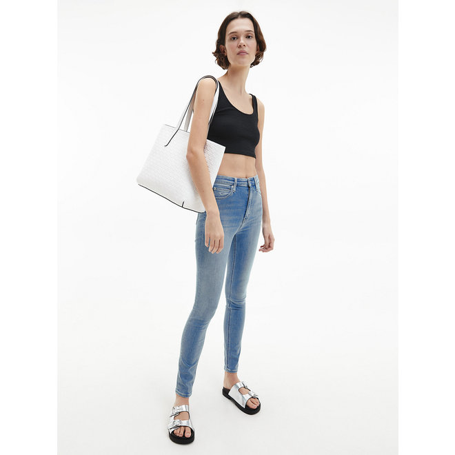 CK faux leather Tote Bag Women - White