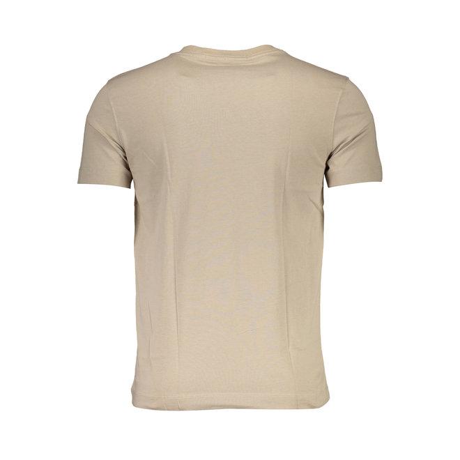 Slim Organic Cotton T-Shirt - Ck The Basics Men - Beige