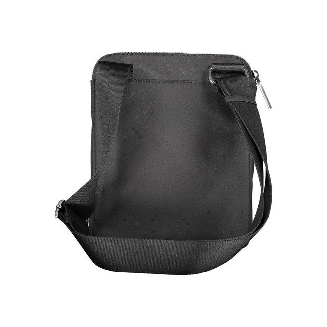Recycled Polyester Flat Crossbody Bag Men - Black