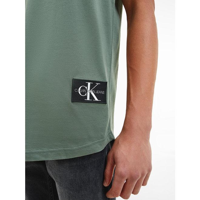 Organic cotton badge T-shirt - Duck Green