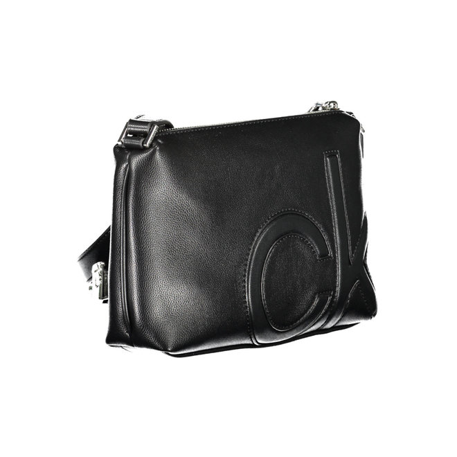 Faux leather CK Crossbody Bag - Black