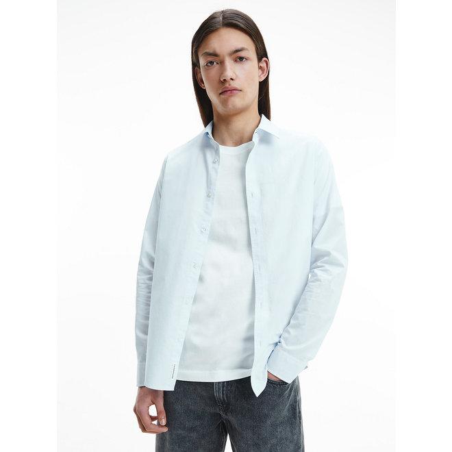 CK  Slim Cotton Dobby Shirt Men - Chambray Blue