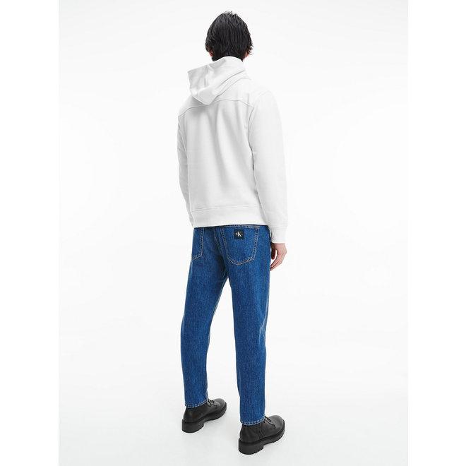 CK  Organic Cotton Fleece Hoodie Men - Bright White