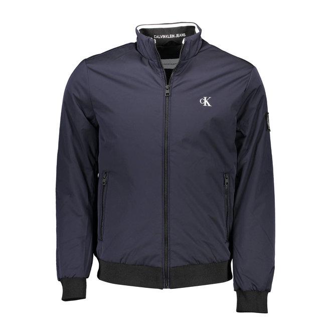 Lightly Padded Zip Up CK Jacket Men - Blue
