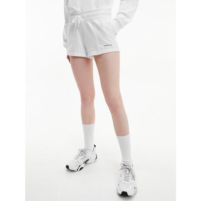 Organic cotton jogger shorts - White