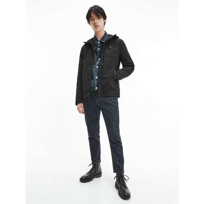 Hooded Zip Up Jacket Men - CK Black