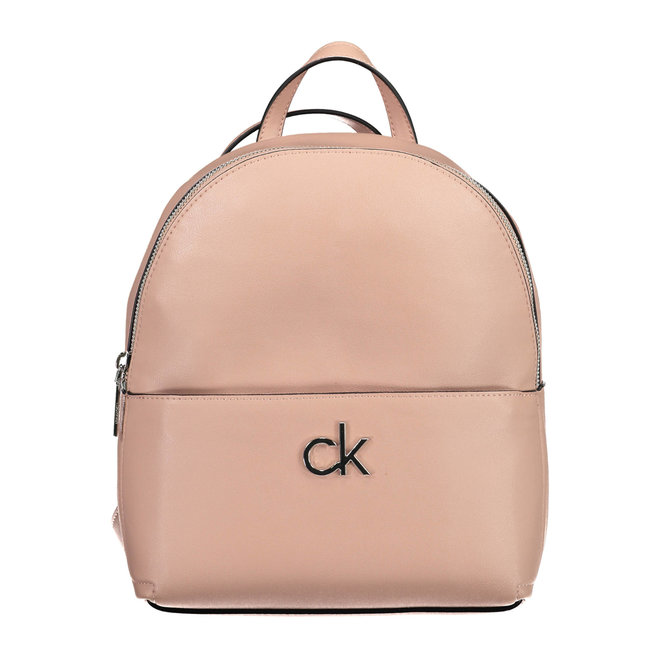 Faux leather CK Round Backpack Women - Blush