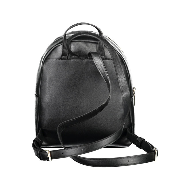 Faux leather CK Round Backpack Women - Black