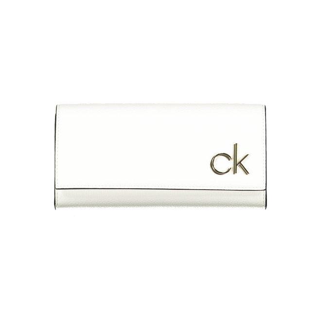 CK Rfid-Blocking Large Trifold Wallet Women - White