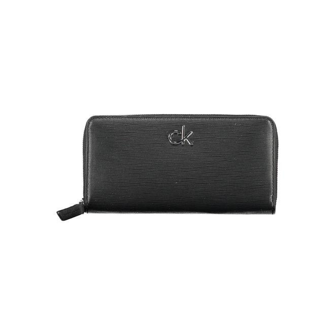 Large Zip Around Wallet Women - CK Black
