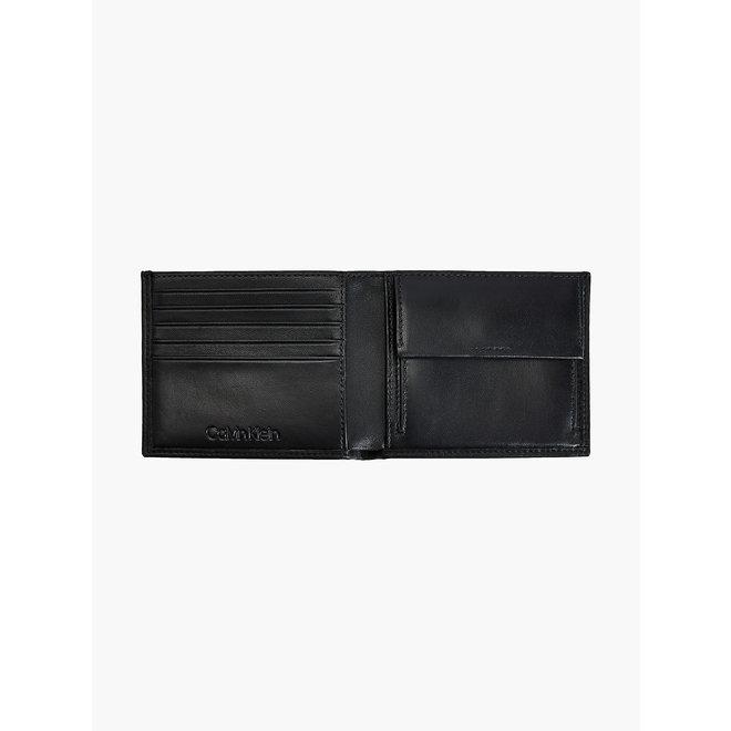 Rfid-Blocking Leather Billfold Wallet Men - CK Black