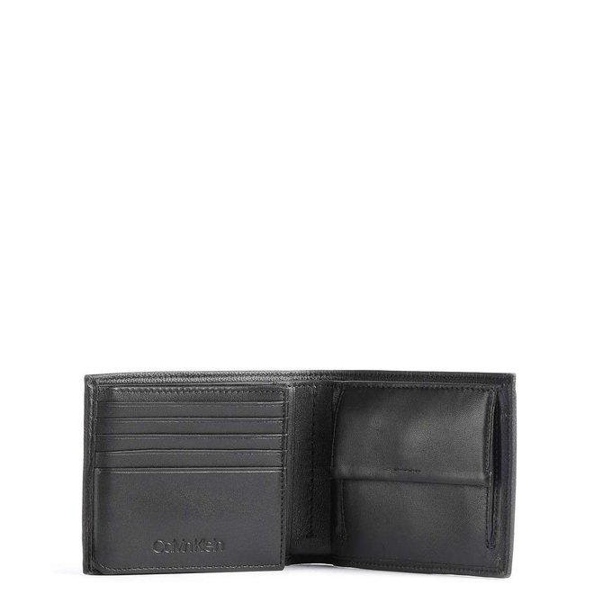 Wallet with fine cow leather-Men - CK Black