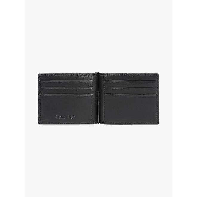 Leather Wallet With Money Clip Men - CK Black
