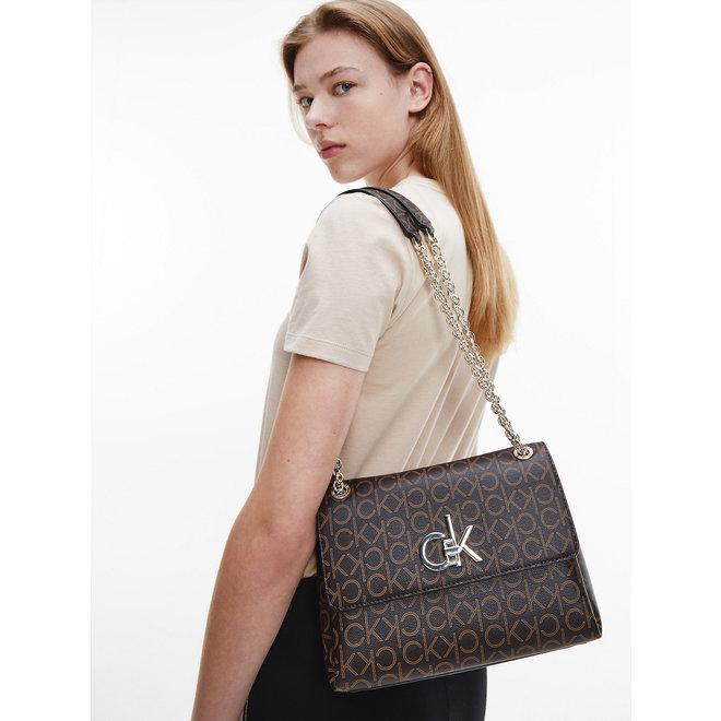 Convertible Shoulder Bag CK Women - Brown Mono