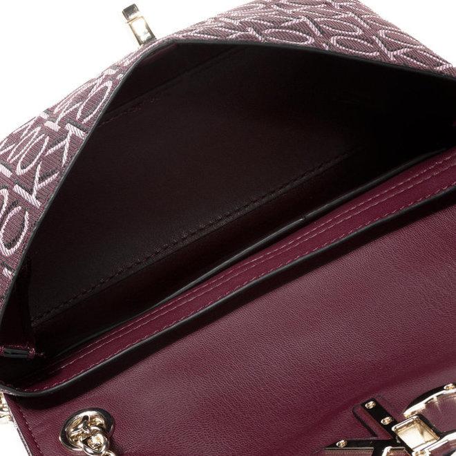 Convertible Logo Jacquard Shoulder Bag CK Women