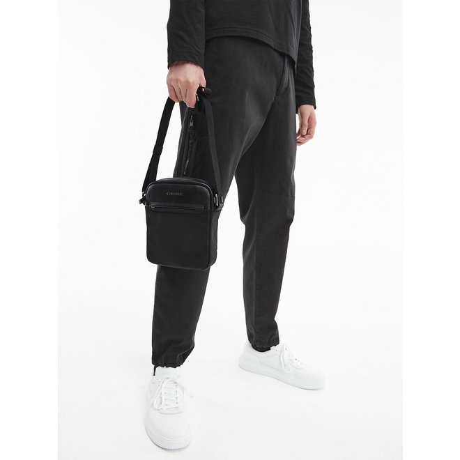 Recycled Polyester Crossbody Bag CK Men - Black