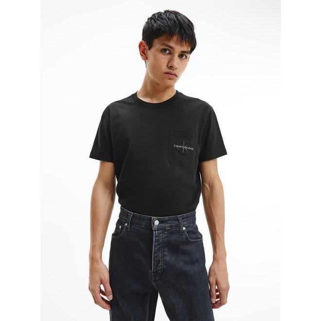 Organic Cotton Pocket Logo T-Shirt CK Men - Black