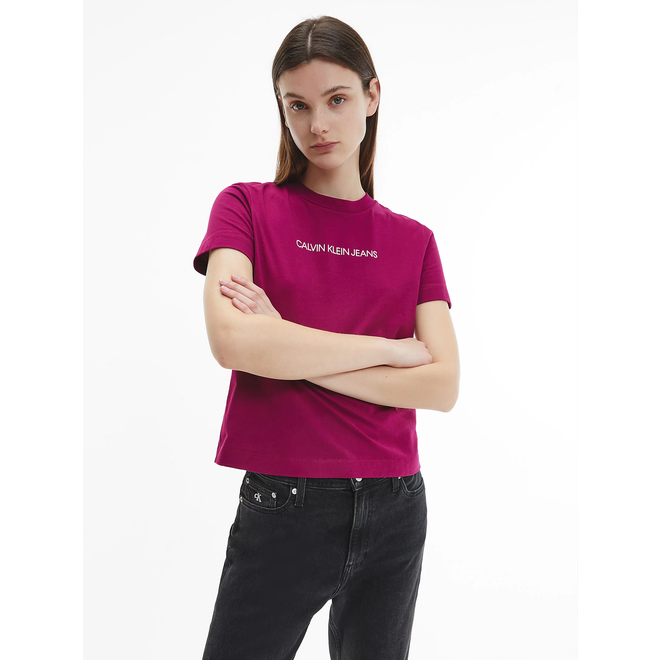 Organic Cotton Logo T-Shirt Women - Dark Clove/Bright White