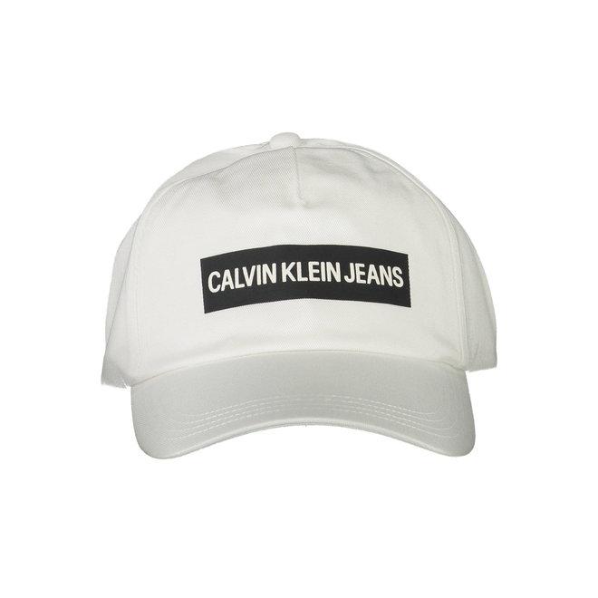 Cotton Twill CK Logo Cap - White