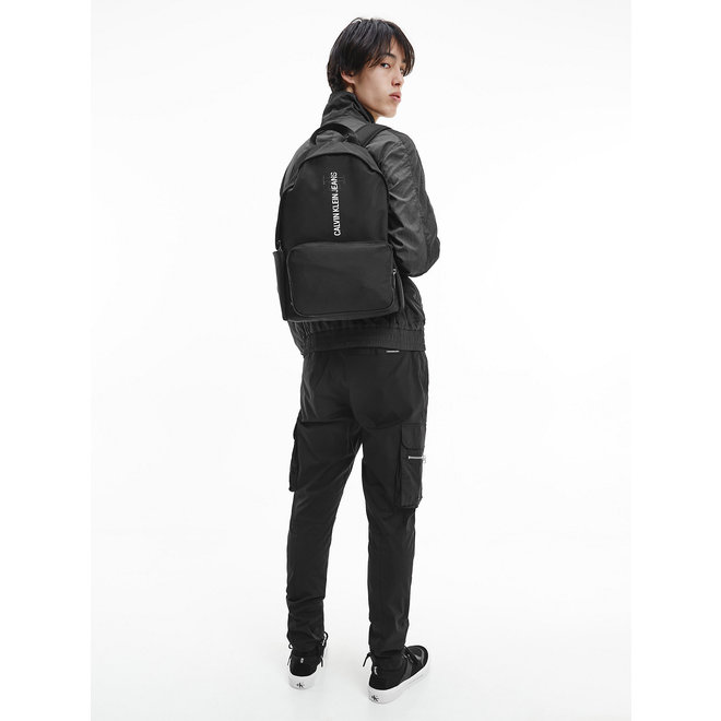 Recycled Polyester Round Backpack CK Men - Black