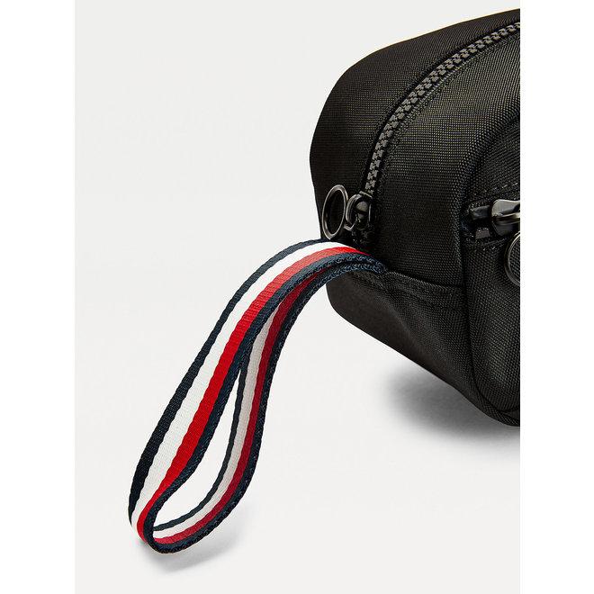 TH Established Logo Embroidery Washbag Tommy Men - Black