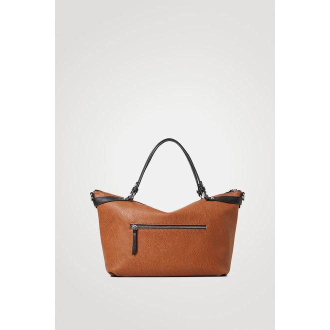 Big handbag solid colour Women - Brown
