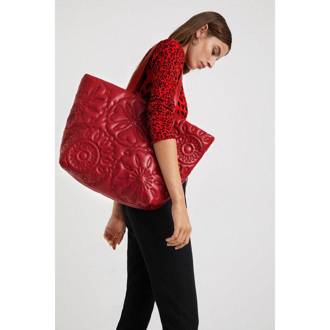 Shopping bag embossed - Red