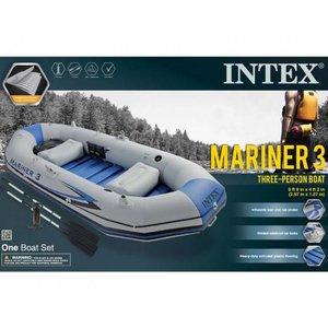 Intex Mariner 3-Persoons Opblaasboot met harde bodem