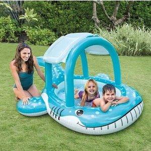 Intex Opblaasbaar zwembad met dakje in walvisvorm