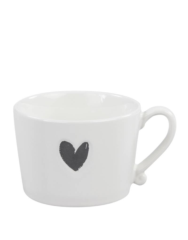 Bastion Collections Bc Mug White/black heart