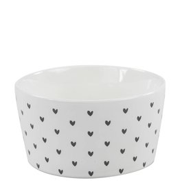 Bastion Collections BC Bowl 13,5 cm, White/little hearts