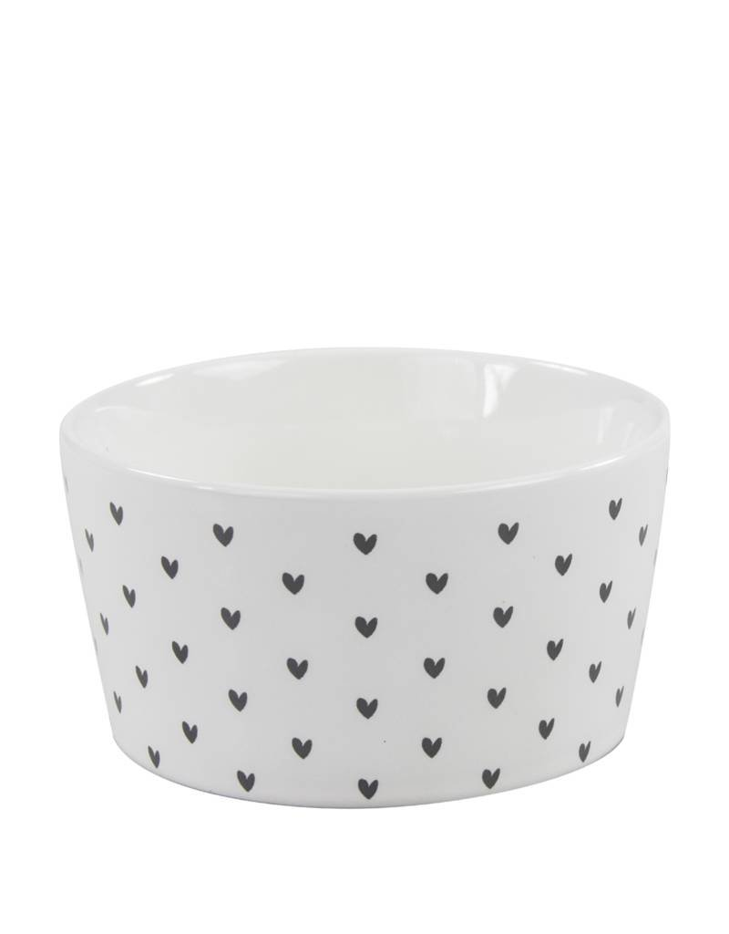 Bastion Collections BC Bowl 13,5 cm, White little hearts