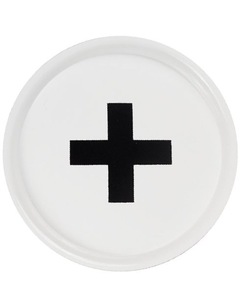 Bastion Collections BC Tray White with black cross