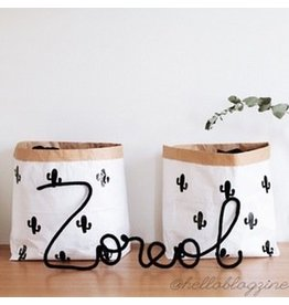 Mon Petit Zoreol Small paperbag met cactusjes